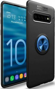 Чехол для Samsung Galaxy S10 (G973) Deen ColorRing с креплением под магнитный держатель Черный / Синий
