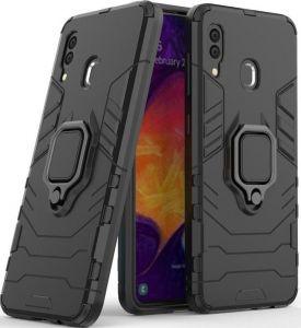 Ударопрочный чехол для Samsung Galaxy M20 Transformer Ring под магнитный держатель Soul Black