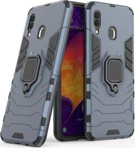 Ударопрочный чехол для Samsung Galaxy M20 Transformer Ring под магнитный держатель Metal slate