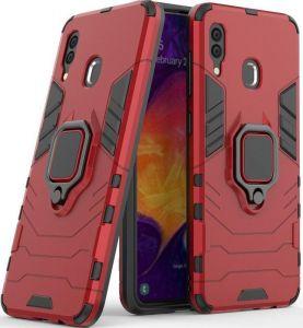 Ударопрочный чехол для Samsung Galaxy M20 Transformer Ring под магнитный держатель Dante Red