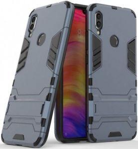 Ударопрочный чехол-подставка для Xiaomi Redmi 7 Transformer с мощной защитой корпуса Metal slate