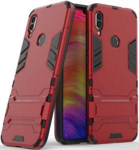 Ударопрочный чехол-подставка для Xiaomi Redmi 7 Transformer с мощной защитой корпуса Dante Red