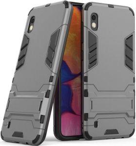 Ударопрочный чехол-подставка для Samsung A105F Galaxy A10 Transformer с мощной защитой корпуса Gun Metal