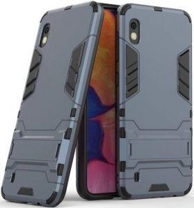 Ударопрочный чехол-подставка для Samsung A105F Galaxy A10 Transformer с мощной защитой корпуса Metal slate