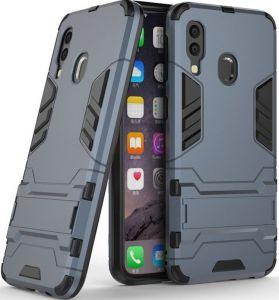 Ударопрочный чехол-подставка для Samsung A405F Galaxy A40 Transformer с мощной защитой корпуса Metal slate