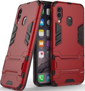 Ударопрочный чехол-подставка для Samsung A405F Galaxy A40 Transformer с мощной защитой корпуса Dante Red