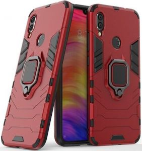 Ударопрочный чехол для Xiaomi Redmi 7 Transformer Ring под магнитный держатель Dante Red