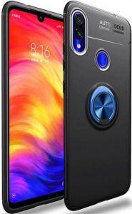 Чехол для Xiaomi Redmi 7 Deen ColorRing с креплением под магнитный держатель Черный / Синий