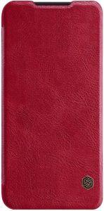 Кожаный чехол для Xiaomi Redmi 7 Nillkin Qin Series Красный