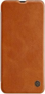 Кожаный чехол для Samsung A505F Galaxy A50 Nillkin Qin Series Коричневый