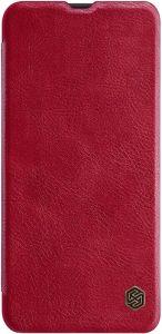 Кожаный чехол (книжка) для Samsung Galaxy A50 (A505F) Nillkin Qin Series Red