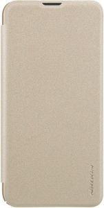 Кожаный чехол для Samsung Galaxy A10 (A105F) Nillkin Sparkle Series Gold