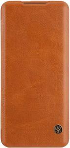 Кожаный чехол для OnePlus 7 Pro Nillkin Qin Series Brown