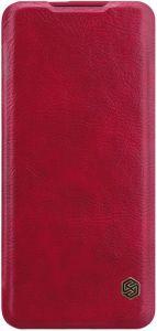 Кожаный чехол для OnePlus 7 Pro Nillkin Qin Series Red