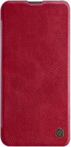Кожаный чехол-книжка для Huawei P Smart Z Nillkin Qin Series Red