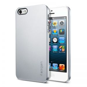 Чехол SGP Case Ultra Thin Air Series Satin Silver для iPhone SE и iPhone 5/5S (SGP09538)