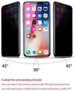"Защитное стекло (антишпион) для iPhone XS/X (5.8"") Baseus Tempered Glass Anti-Peeping 0.3mm (SGAPIPHX-LK02)"