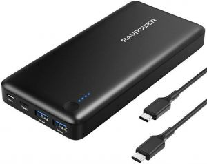 Внешний аккумулятор RavPower Power Bank 20100mAh 30W Black (RP-PB059)