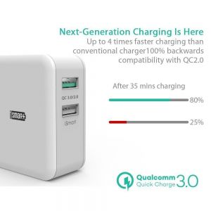 Сетевое зарядное устройство RavPower USB Wall Charger Quick Charge 3.0 2xUSB 30W White (RP-PC006WH)
