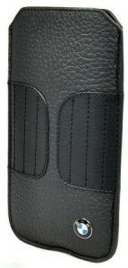 Кожаный чехол CG Mobile BMW Leather Sleeve Case Kidney Shape Black для iPhone SE и iPhone 5/5S (BMPOP5LK)