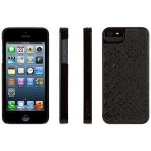 Чехол кожаный Griffin Moxy Case Series Python Black для iPhone SE и iPhone 5/5S (GB35525)