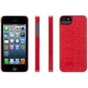Чехол кожаный Griffin Moxy Case Series Python Red для iPhone SE и iPhone 5/5S (GB35526)