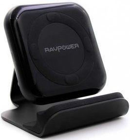Беспроводное зарядное устройство RavPower Wireless Fast Qi Charging Stand 10W Black+ QC 3.0 Adapter (RP-PC070)