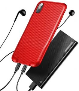 Чехол для iPhone X Baseus Audio Case Red (WIAPIPHX-VI09)