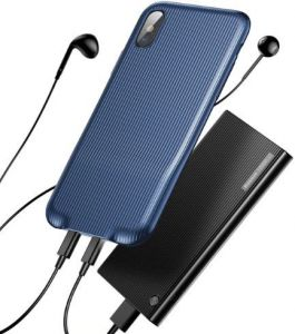 Чехол для iPhone X Baseus Audio Case Dark Blue (WIAPIPHX-VI15)
