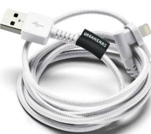 Кабель для зарядки и синхронизации Urbanears The Thunderous Lightning Cable True White (4091107)