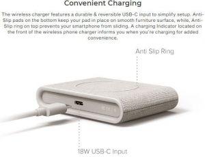 Беспроводное зарядное устройство iOttie iON Wireless Fast Charging Pad Mini 10W Tan (CHWRIO103TN)
