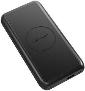 Внешний аккумулятор с беспроводной зарядкой (5W) RavPower Power Bank 10000mAh 5W Wireless Charging Black (RP-PB081)