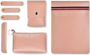 Чехол для MacBook Pro 13'' Retina (2009-2018) / Air 13'' (2010-2018) и других ноутбуков до 14'' WIWU Elegant Office Sets Pink (6957815506385)