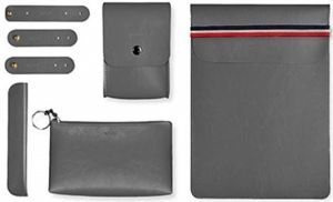 Чехол для MacBook Pro 13'' Retina (2009-2018) / Air 13'' (2010-2018) и других ноутбуков до 14'' WIWU Elegant Office Sets Grey (6957815506361)