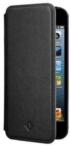 Кожаный чехол Twelvesouth SurfacePad Jet Black для iPhone SE и iPhone 5/5S (TWS-12-1228)