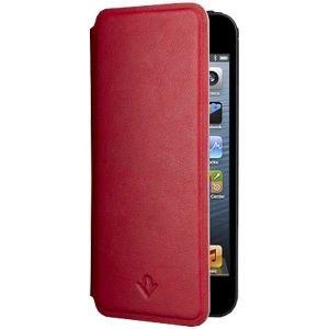 Кожаный чехол Twelvesouth SurfacePad Pop Red для iPhone SE и iPhone 5/5S (TWS-12-1230)