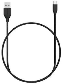 Кабель RavPower USB Cabel to USB-C 0.9m Black (RP-CB017)