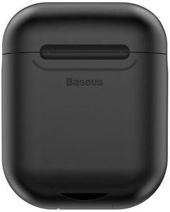 Силиконовый чехол с беспроводной зарядкой для зарядного кейса AirPods 1 (2016) Baseus Wireless Charger Black (WIAPPOD-01)