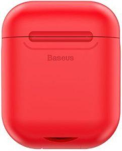 Силиконовый чехол с беспроводной зарядкой для зарядного кейса AirPods 1 (2016) Baseus Wireless Charger Red (WIAPPOD-09)