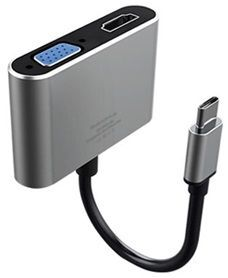 Адаптер WIWU Adapter Apollo A20VH Lite USB-C to VGA+HDMI Grey (695781551082)