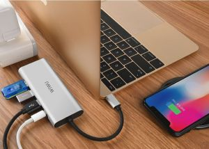Адаптер WIWU Adapter Apollo A531H USB-C to HDMI+3xUSB3.0+USB-C Grey