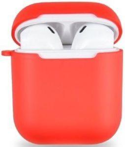 TPU-чехол для зарядного кейса для AirPods 1 (2016) WIWU iShell TPU Case Transperent Red