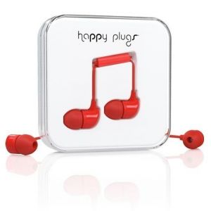 Наушники Happy Plugs Headphones In-Ear Red (7716)