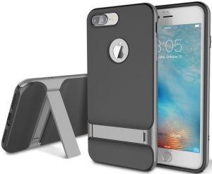 Чехол для iPhone 8 Plus / 7 Plus (5.5'') Rock Royce Series (с подставкой) Black / Grey (6950290637841)