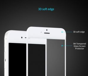 Защитное 3D-стекло для iPhone 8 Plus / 7 Plus (5.5'') Rock Space 3D Tempered Glass with Soft Edge White (6950290646201)
