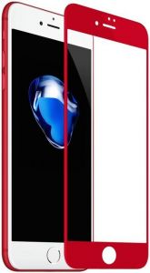 Защитное 3D-стекло для iPhone 8/7 (4.7'') Baseus 0.23mm PET Soft 3D Tempered Glass Film Red