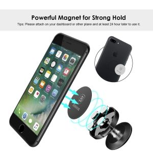 Автодержатель (до 7'') Baseus Small Ears Series Vertical Magnetic Bracket (Genuine Leather Type) Black (SUER-F01)
