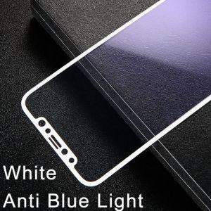 Защитное стекло для iPhone X/XS Baseus 0.2mm Silk-Screen Anti-bluelight Tempered Glass Film White