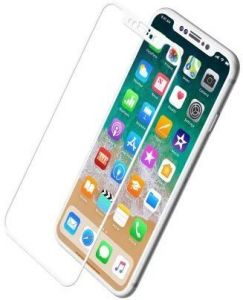 Защитное стекло для iPhone X Baseus 0.2mm Silk-Screen Anti-bluelight Tempered Glass Film White