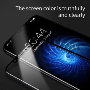 Защитное стекло для iPhone X/XS Baseus 0.2mm Silk-Screen Tempered Glass Film Black